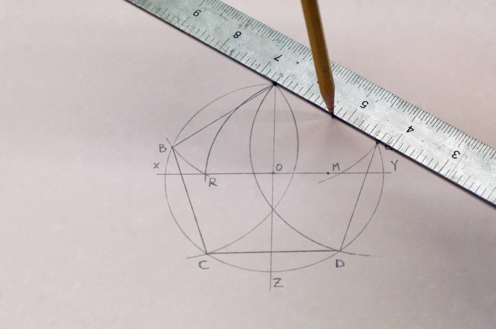 how to find waypoint of line with compass