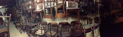 Chairs as far as the eye can see.