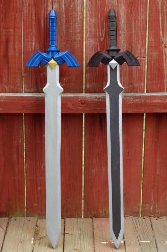 Swords side-by-side