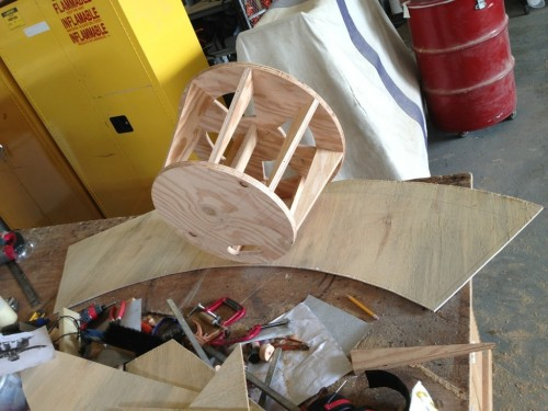 Attaching the wiggle wood