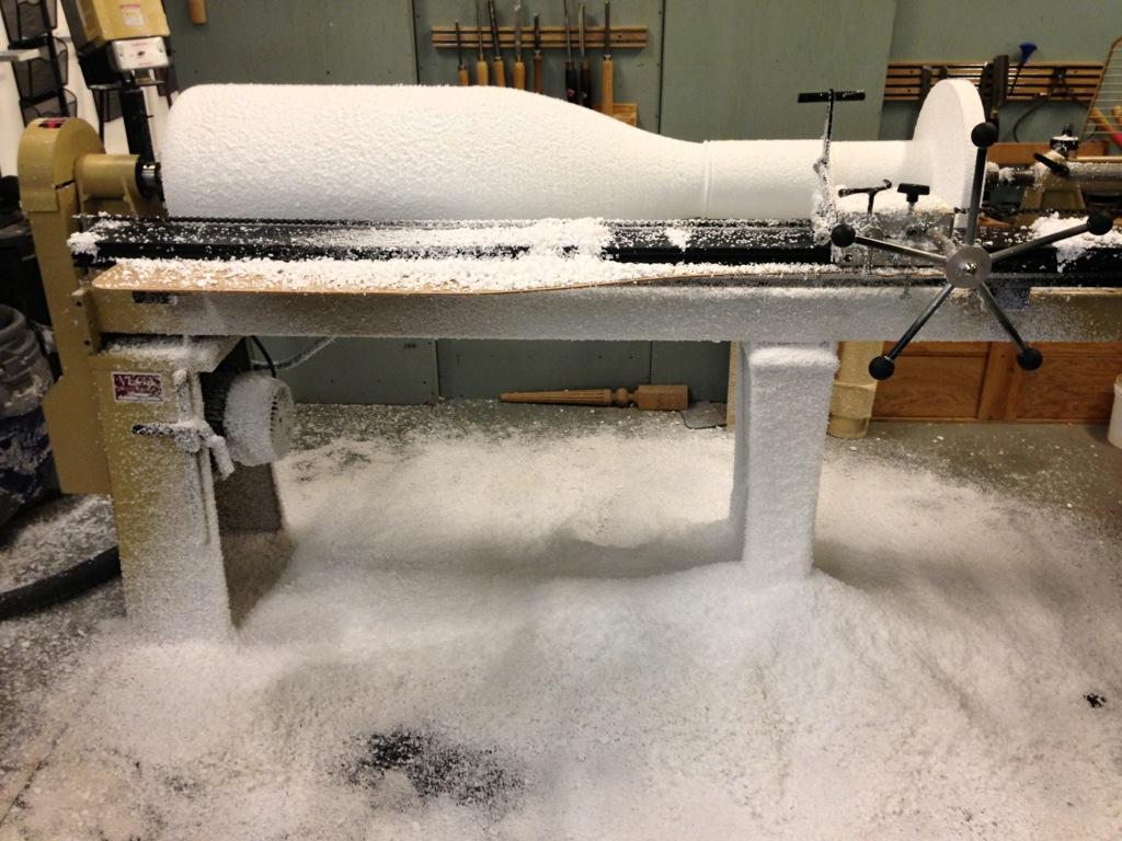 Turning foam