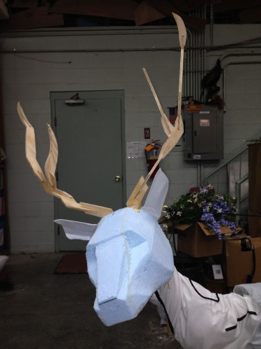Head and antlers