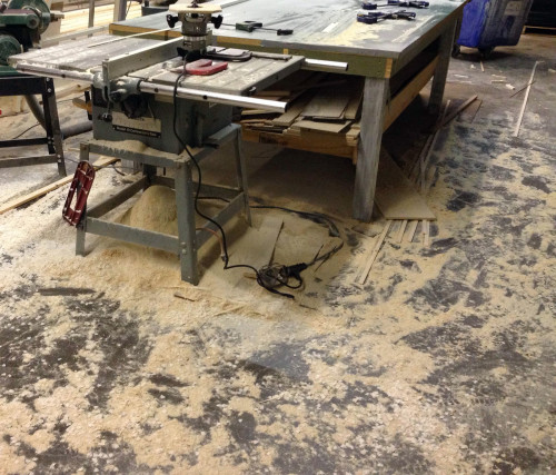 Too much sawdust
