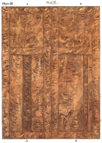 Oak panel door
