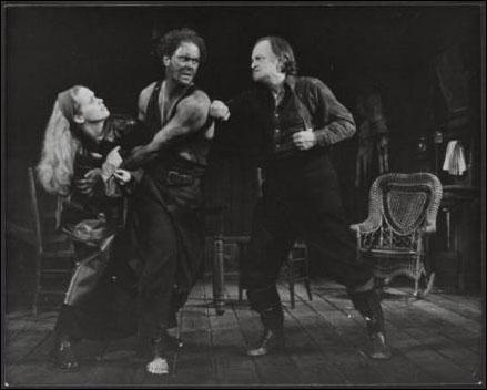 Liv Ullmann, John Lithgow and Robert Donley in Anna Christie, 1977.