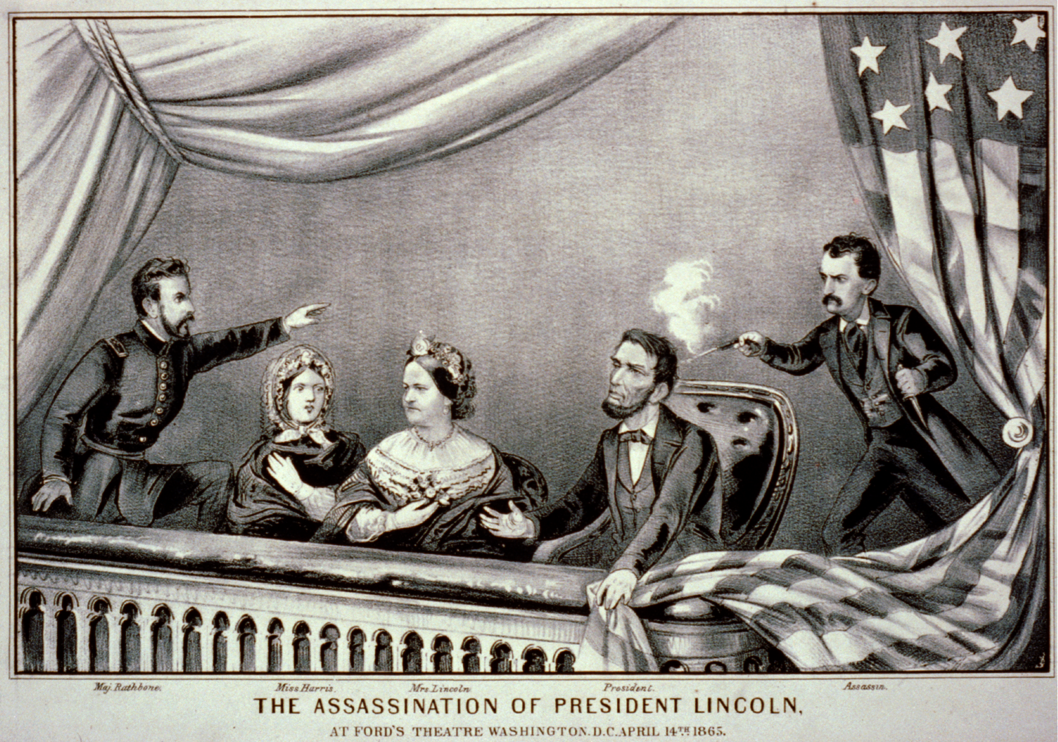 The Assassination of President Lincoln by Currier and Ives