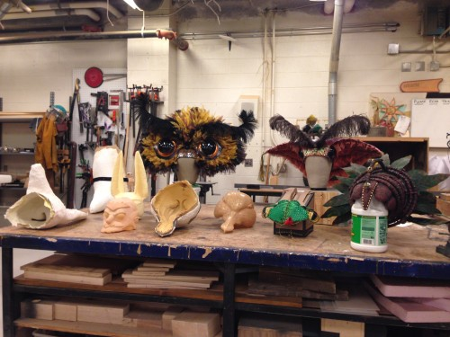 Puppets and headdresses by Marie Schneggenburger