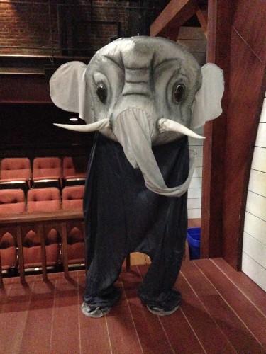 Elephant puppet. Photo by Lisa Bledsoe.