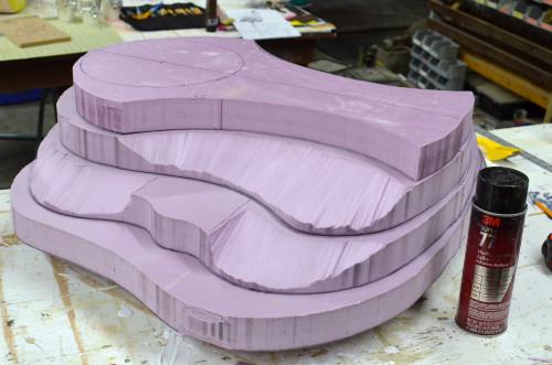 Stack of foam