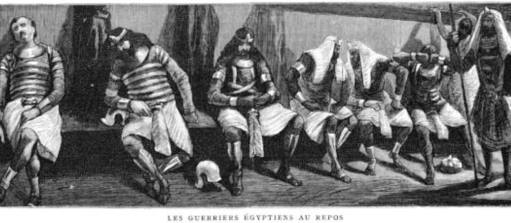 The Egyptian Warriors at rest