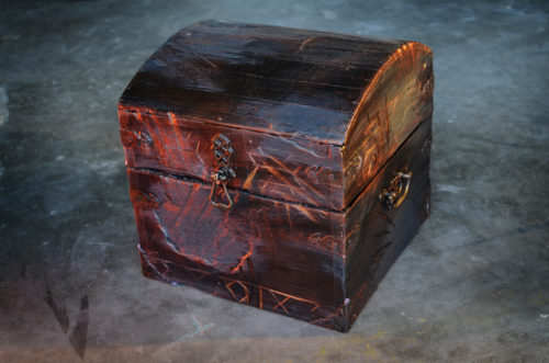 Ancient carved box