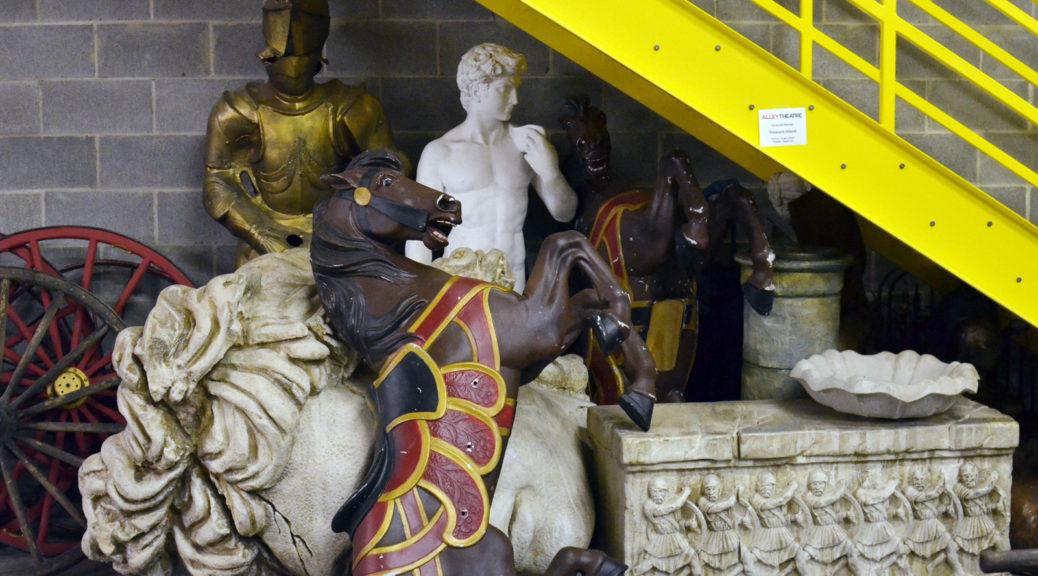 An assortment of statuary