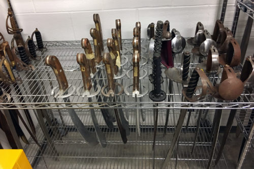 Assorted sorted swords