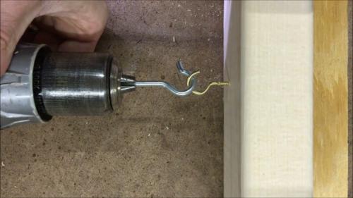 Attaching a screw hook
