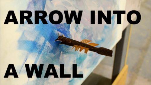 Arrow into Wall