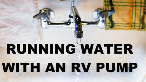Running Water with an RV Pump