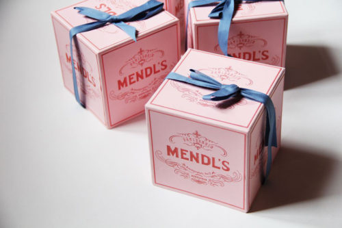 Mendl's Chocolate box from the movie Grand Budapest Hotel by Annie Atkins