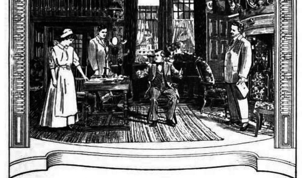 The set of the 'Return of Peter Grimm'