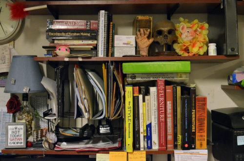 A well-stocked book shelf