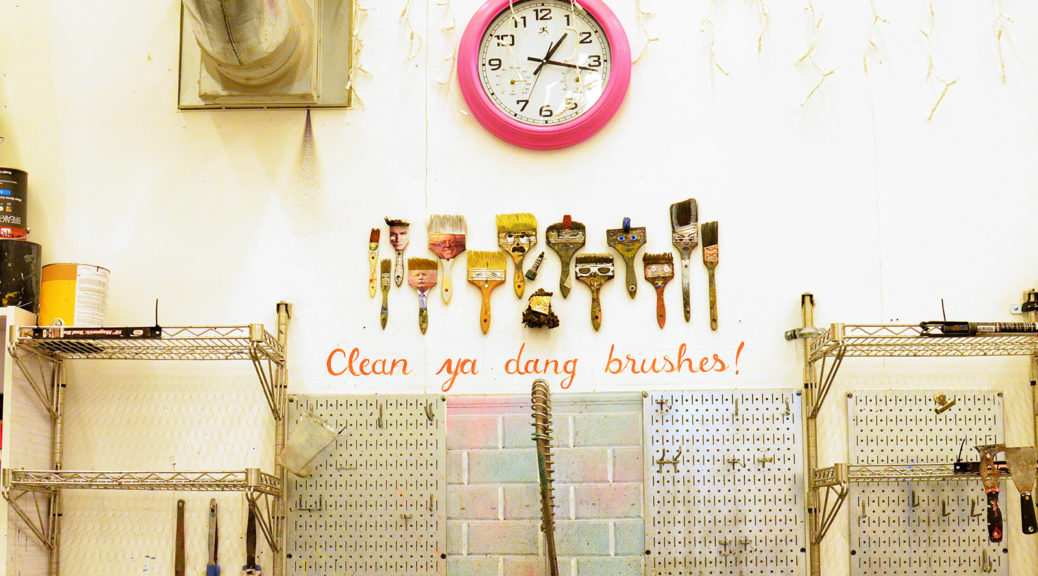 Clean ya dang brushes!