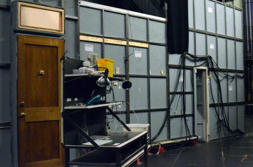 Behind the set at the Goodman