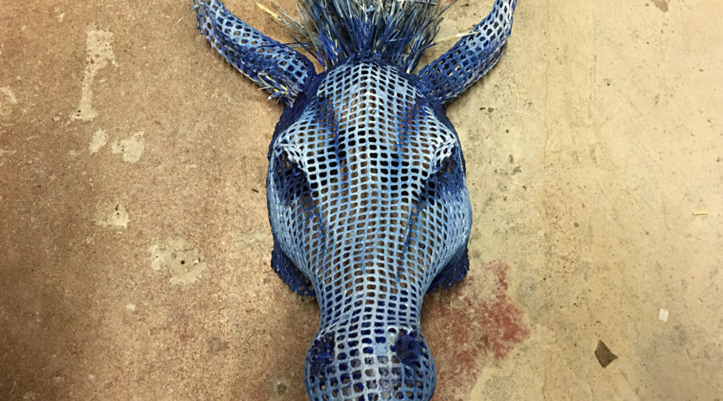 "The donkey mask from ""A Midsummer Night's Dream"""