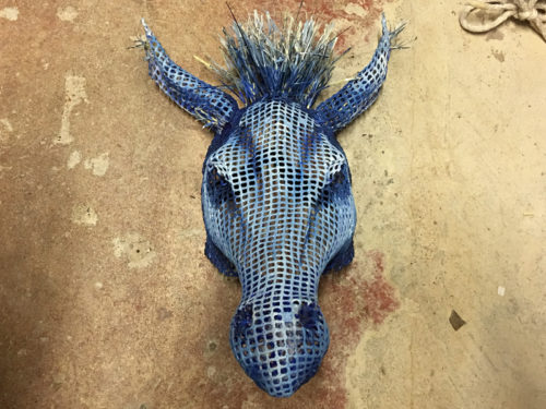 """The donkey mask from """"A Midsummer Night's Dream"""""""