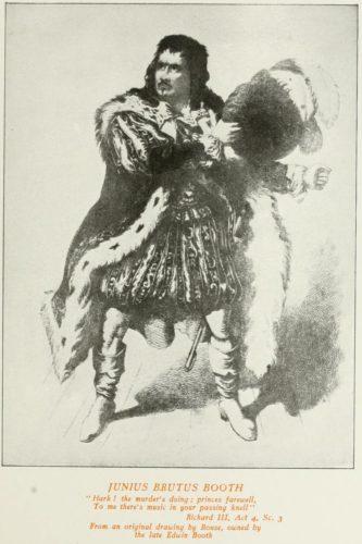 Junius Brutus Booth in Richard III