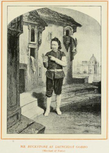 Mr. Buckstone as Launcelot Gobbo