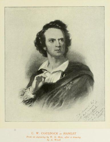 CW Couldock as Hamlet, 1872