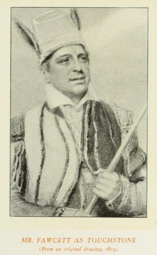 Mr Fawcett as Touchstone, 1819