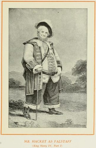 Mr Hacket as Falstaff