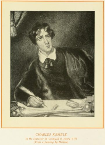 Charles Kemble as Cromwell
