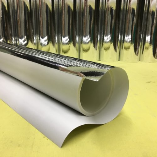 Wrapping chrome onto PVC