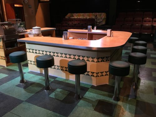 Stools around the bar