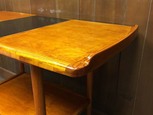 With stain and shellac