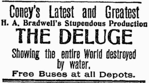1906 Ad for The Deluge