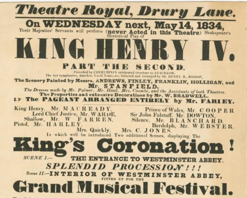 1834 Drury Lane Playbill