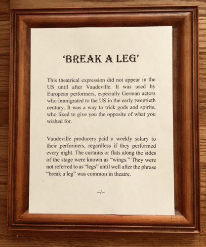 "Better origin of the phrase ""Break a Leg"""